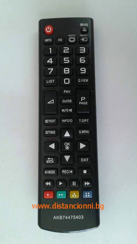 Дистанционно за LG AKB74475403